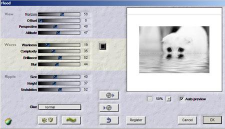Плагин для фотошопа - Создание водной поверхности