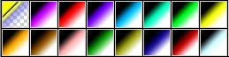 Отличная коллекция трёхцветных градиентов